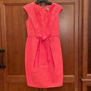 Dresses & Skirts - Carmen Marc Valvo Pink Jacquard Sheath Dress